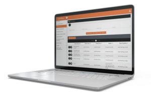 Mockup laptop software flotta aziendale